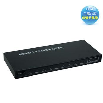 HDMI二進八出信號切換分配器( HMSP208)