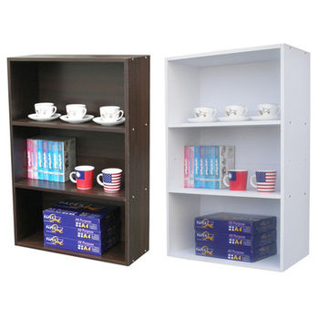 【Dr. DIY】寬60公分(三格)書櫃/收納櫃(二色可選)