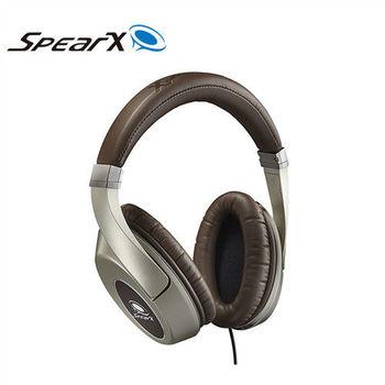 SpearX 品味經典 D1音樂耳機(咖啡金)