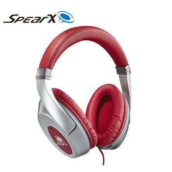 SpearX 品味經典 D1音樂耳機(亮紅銀)
