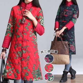 【韓國K.W. 】中國焦點美人彩繪風顯瘦版型外套