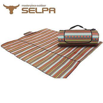 【韓國SELPA】防水雙面可用繽紛野餐墊 (特大型)