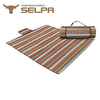 【韓國SELPA】防水雙面可用繽紛野餐墊 (一般型)