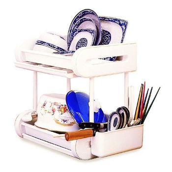 小廚師餐具架 餐具盒 碗盤瀝水架
