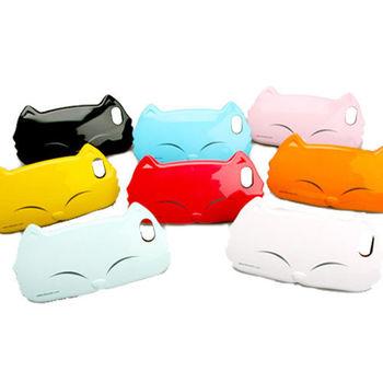 KIKI Apple iPhone5/5s 漂亮貓咪 運動型矽膠套(買一送一)