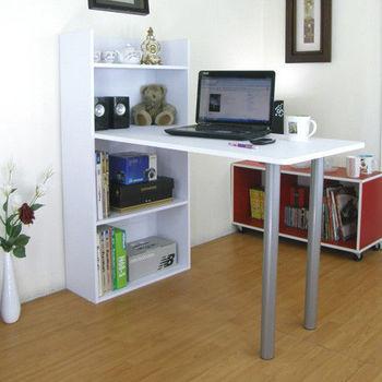 【Dr. DIY】4層置物櫃型書桌/電腦桌-素雅白色