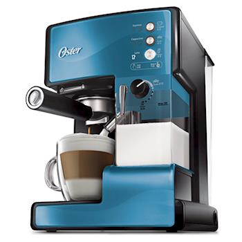 美國OSTER奶泡大師義式咖啡機 PRO升級版(星礦藍)(送研磨大師電動磨豆機+咖啡粉清潔刷)