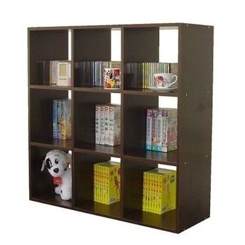 【Dr. DIY】9格(無背板)書櫃/收納櫃/置物櫃(二色可選)
