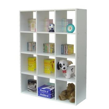 【Dr. DIY】12格(無背板)書櫃/收納櫃/置物櫃(二色可選)