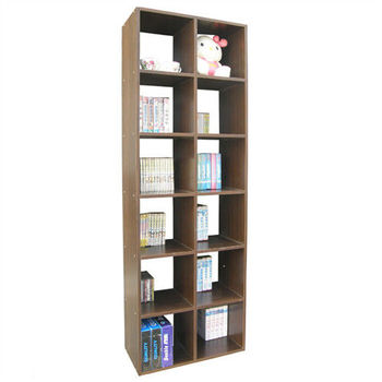 【Dr. DIY】12格(高180公分)書櫃/收納櫃/置物櫃(二色可選)