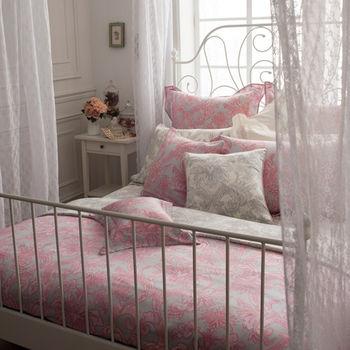 BBL粉紅洛可可100%天絲®印花特大四件式床包組