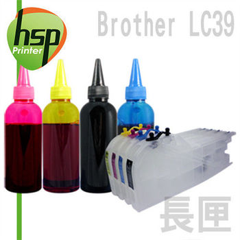 Brother LC39 長空匣+寫真100cc墨水組 四色 填充式墨水匣 DCP-J125