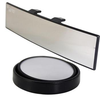 omax廣角鍍鉻曲面後視鏡-1入+360度迴轉小圓鏡(LY117)-2入