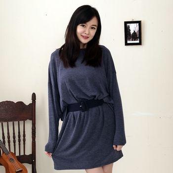 【Stoney.ax】別緻特色素雅造型長版洋裝(附贈造型腰帶)(共兩色)