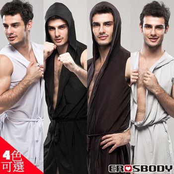 EROSBODY 艾若斯健美 男生居家浴袍睡衣4色 黑/白/灰/咖啡