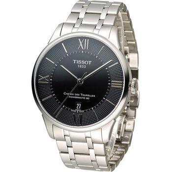 天梭 TISSOT 杜魯爾系列80小時紳士機械腕錶 T0994071105800