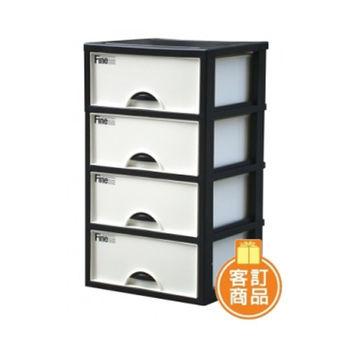 【將將好收納】加賀四層櫃(附輪)-140L