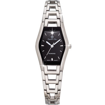 Olympia Star 奧林比亞之星-Jolie dame造型時尚腕錶(時尚黑)28020LS