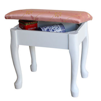 【Asllie】艾嘉掀蓋化妝椅-白
