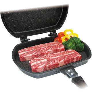 【鉅豪】韓國不沾雙面煎烤鍋-加碼送保鮮蓋4入組