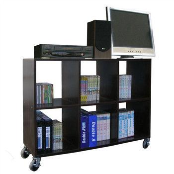 【頂堅】6格(無背板)書櫃/置物櫃/隔間櫃(附四個工業輪)-二色可選