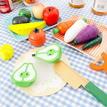 樂兒學 蔬菜水果切切樂木製學習積木