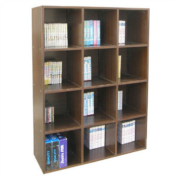 【頂堅】高120公分(12格)書櫃/收納櫃/置物櫃(有背板)-二色可選