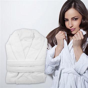 【法式寢飾花季】純品良織-五星飯店款100%純棉舒柔保暖歐式浴袍