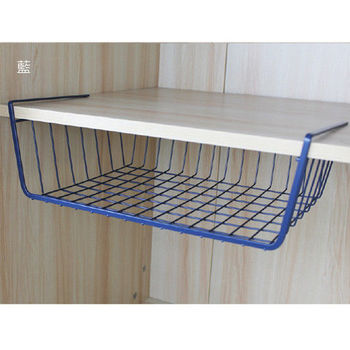 【買達人】多用途櫥櫃收納掛籃+DIY電腦置物增高置物架