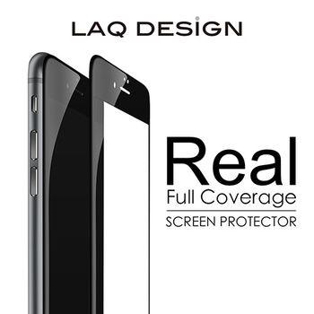 LAQ DESIGN iPhone6s / 6 Plus (5.5吋) 3D真滿版 鋼化玻璃保護貼 黑框款