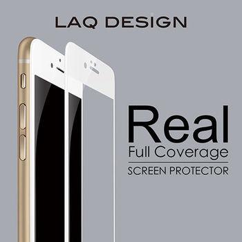 LAQ DESIGN iPhone6s / 6 Plus (5.5吋) 3D真滿版 鋼化玻璃保護貼 白框款