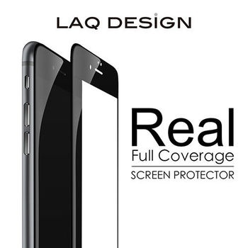 LAQ DESIGN iPhone6s / 6 (4.7吋) 3D真滿版 鋼化玻璃保護貼 黑框款