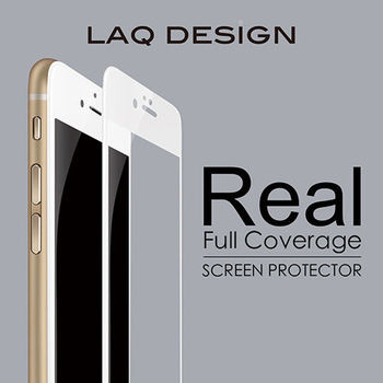 LAQ DESIGN iPhone6s / 6 (4.7吋) 3D真滿版 鋼化玻璃保護貼 白框款