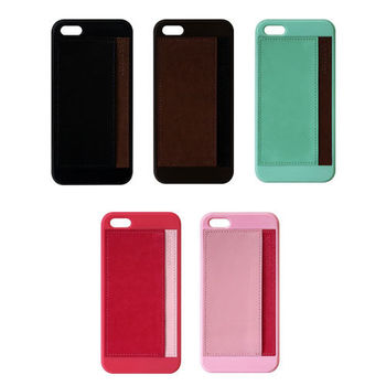 FOXJAIL Apple iPhone5/5s 皮革收納硬式保護殼
