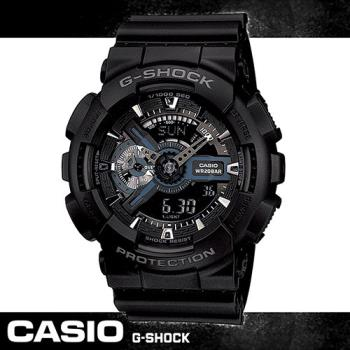 【CASIO 卡西歐 G-SHOCK 系列】重機造型雙顯運動錶(GA-110)