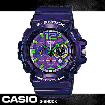 【CASIO 卡西歐 G-SHOCK 系列】新色發表/跳躍紫色/強悍上市(GAC-110)