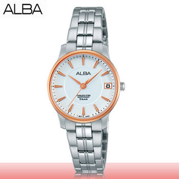 【SEIKO 精工 ALBA 系列】送禮首選-時尚氣質女錶_鏡面2.8cm(AG8510X1)