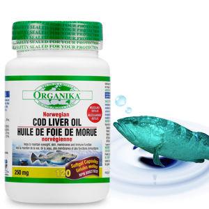 [Organika 優格康】鱈魚肝油膠囊食品(250mg 120顆)