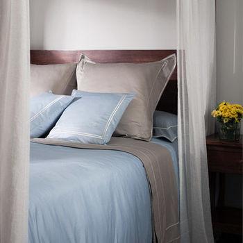 BBL 絕色(礫石褐)100%PIMA棉.素色雙人四件式床包組