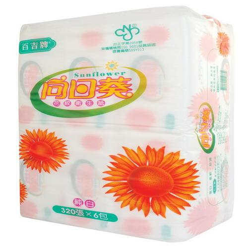 百吉牌平版衛生紙(320張*6包*6串/箱)