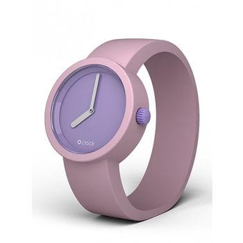【O Bag】義大利品牌-TT 紫丁香錶芯 + 胭脂粉錶帶 L
