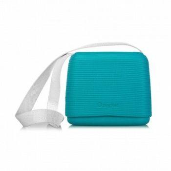 【O Bag】義大利品牌-O Pocket 帆布背帶組(白) - 水波藍