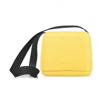 【O Bag】義大利品牌-O Pocket 帆布背帶組(黑) - 亮黃