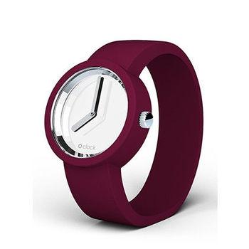 【O Bag】義大利品牌-Mirror 錶芯 + 波爾多紅錶帶 M