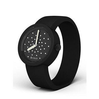 【O Bag】義大利品牌-Cristal 黑 + 黑錶帶 S