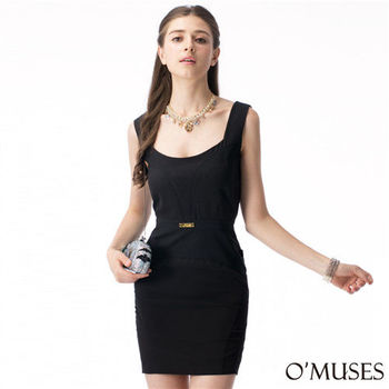 【OMUSES】美式包臀宴會洋裝37-7941(S-L)
