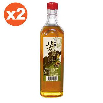 金永發 苦茶油2罐組(600ml/瓶)
