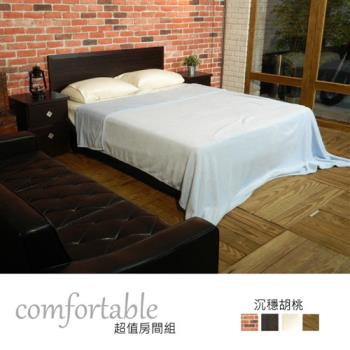 時尚屋 [WG5]喬伊絲床片型3件房間組-床片+床底+床頭櫃1WG5-22W