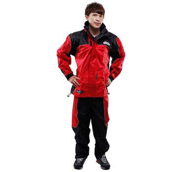 天龍牌 新重裝上陣F1機車型風雨衣( 紅色)+通用鞋套