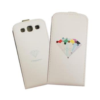 HAPPYMORI SAMSUNG GALAXY S3 鑽石光芒 掀蓋式皮套(線條款)